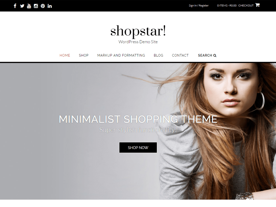 Shopstar wordpress ecommerce theme
