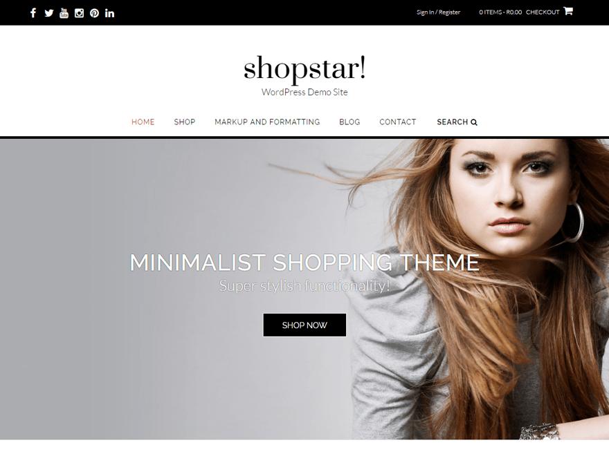 Shopstar wordpress ecommerce theme