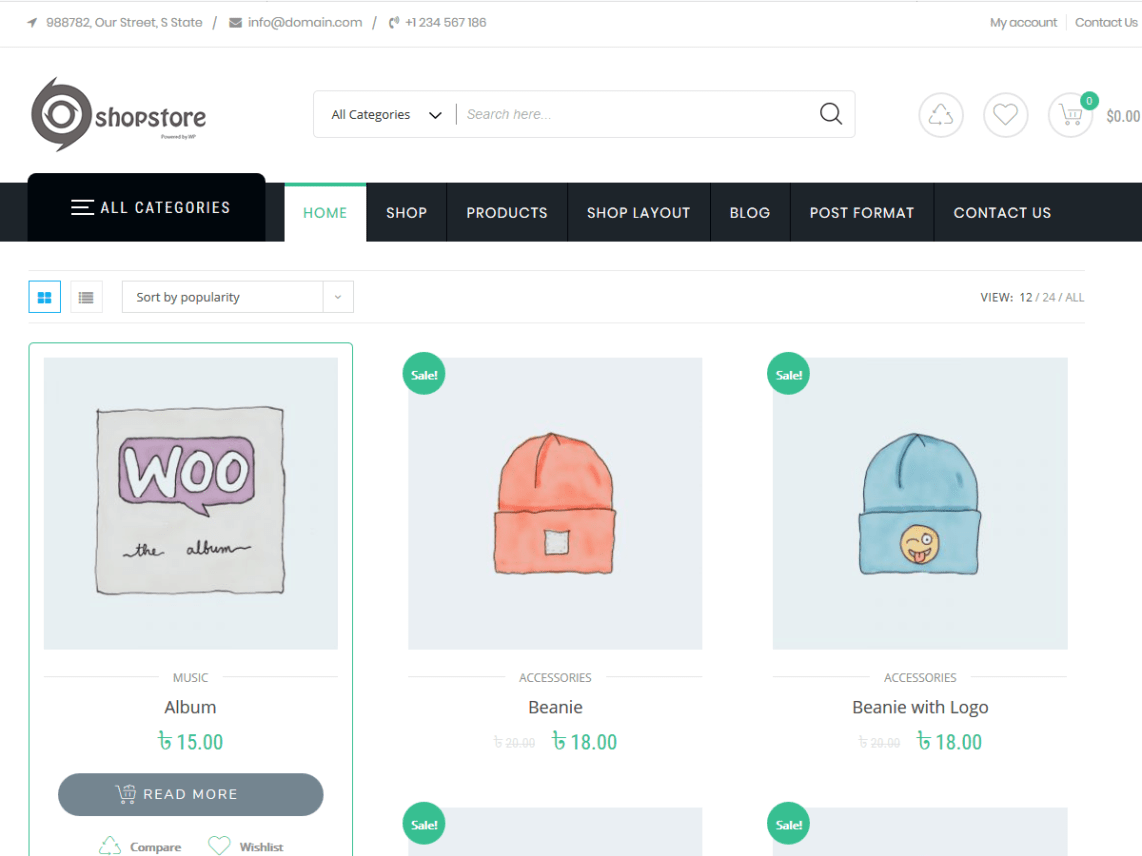 Shopstore Wordpress Theme Wordpress Org