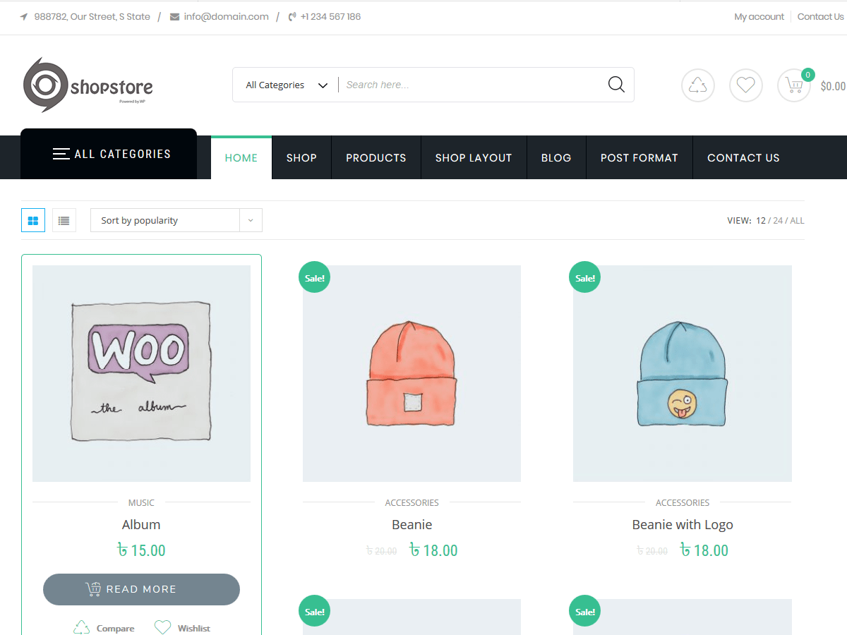 ShopStore Multipurpose WooCommerce WordPress Theme