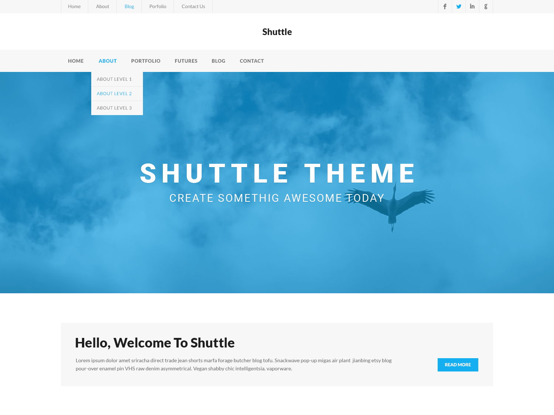 WordPress主题:Shuttle iBusiness