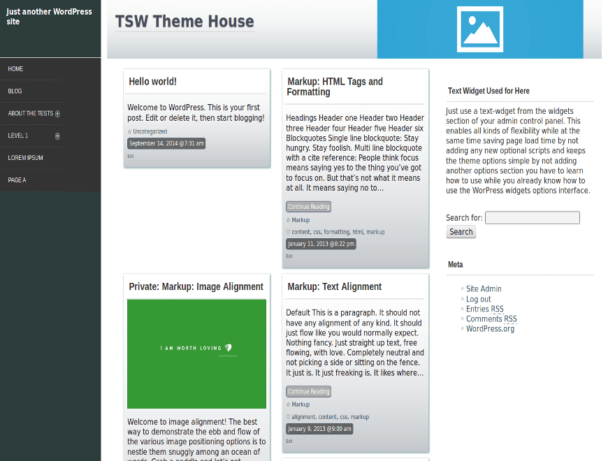 Side Out free wordpress theme