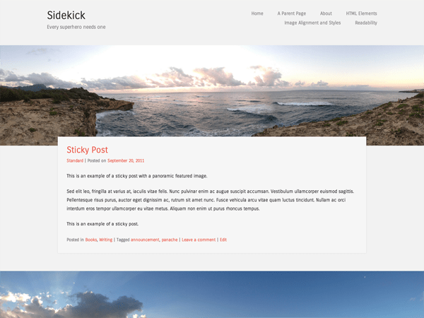 Sidekick theme wordpress gratuit
