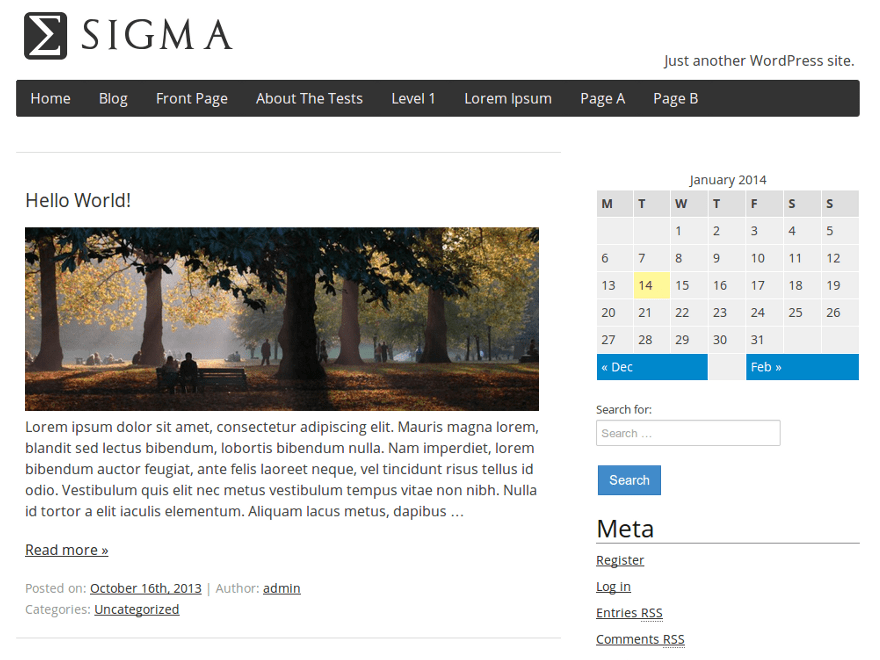 Sigma free wordpress theme
