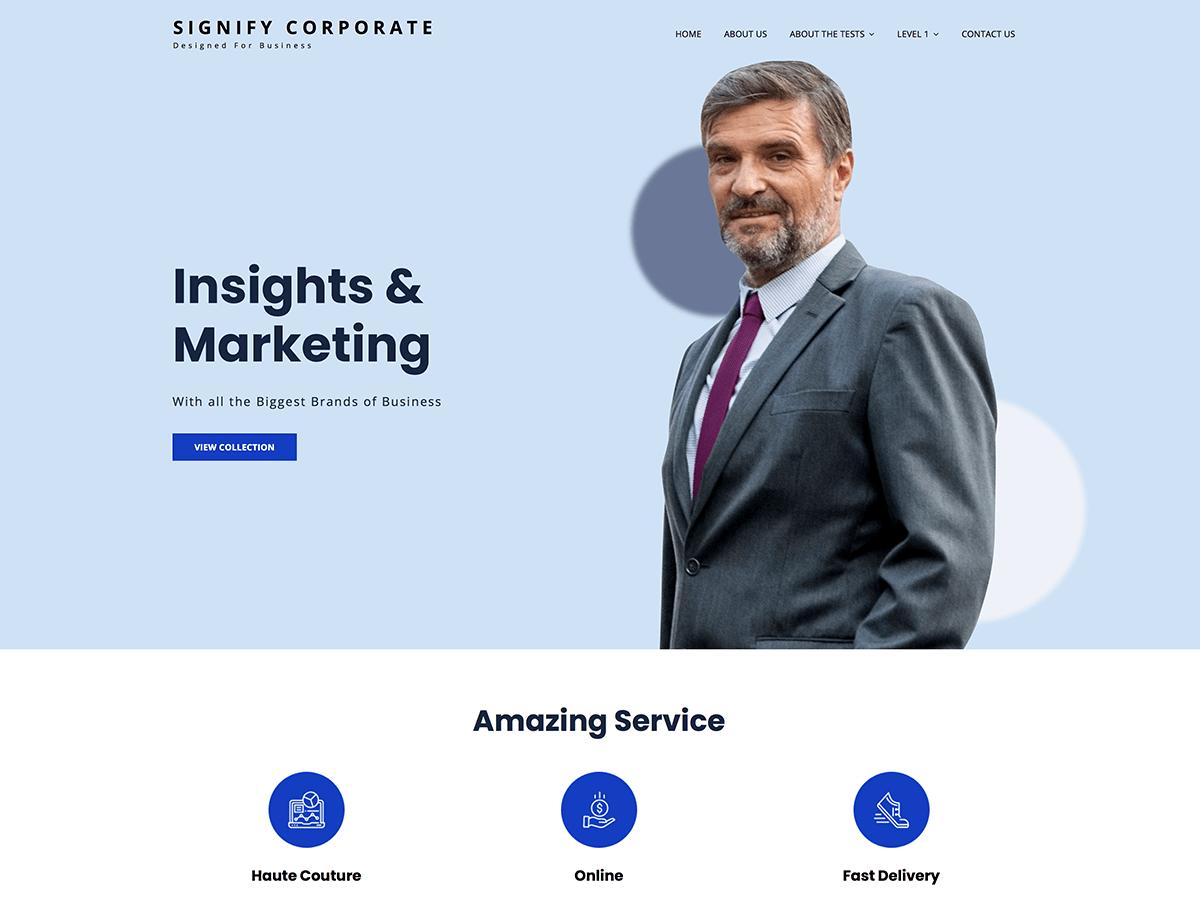 WordPress主题:Signify Corporate