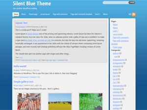 Silent Blue free wordpress theme