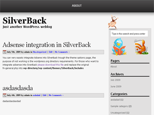 SilverBack free wordpress theme