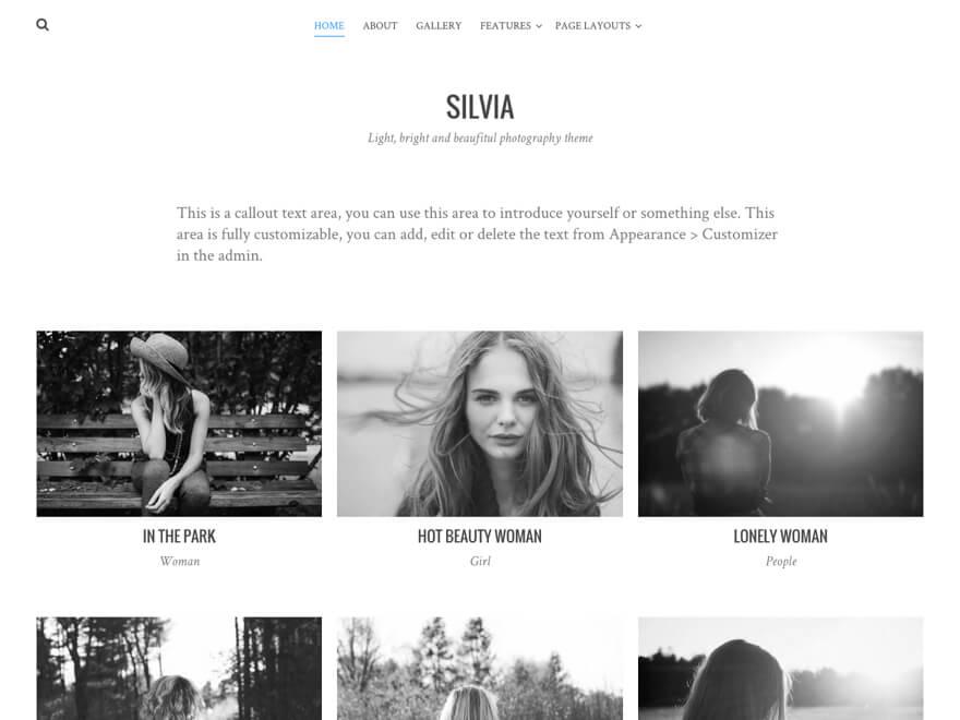 Silvia theme wordpress gratuit