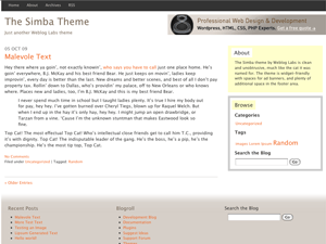 Simba free wordpress theme