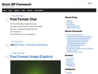 Simon WP Framework free wordpress theme