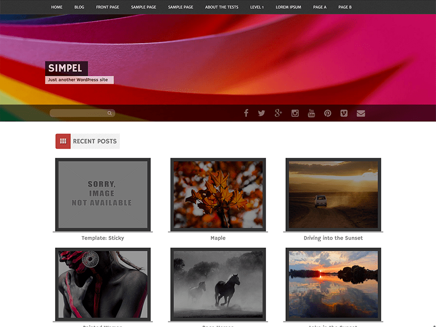 Simpel free wordpress theme