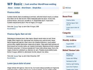 Simple Blue wordpress theme