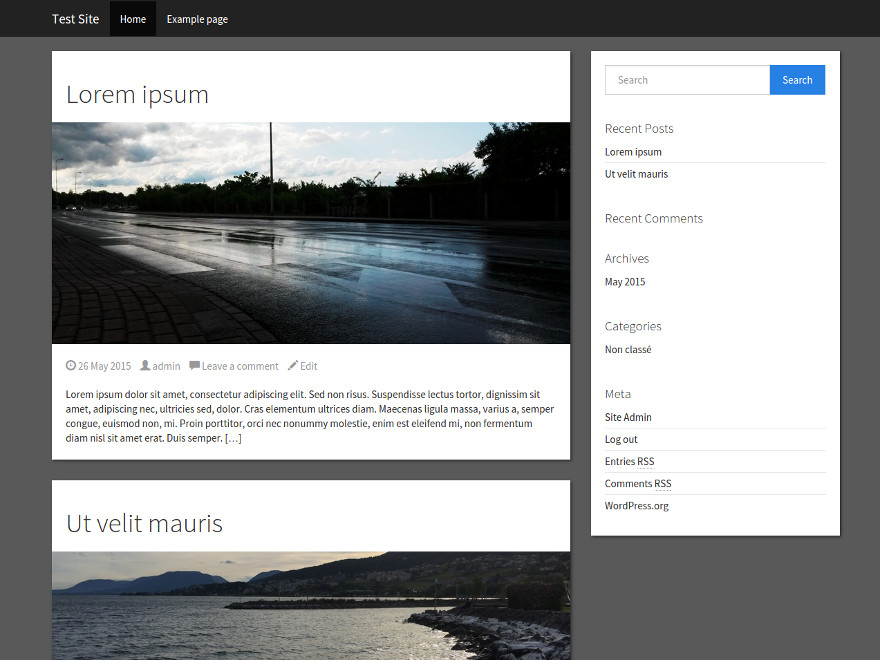 Simple Bootstrap free wordpress theme