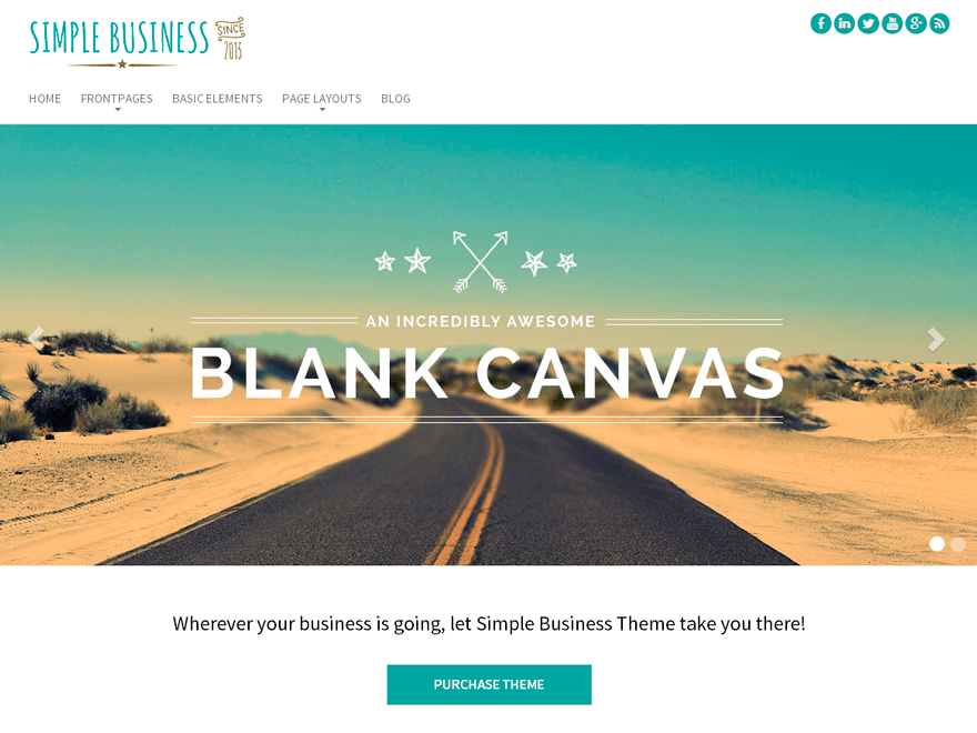 Simple Business WP free wordpress theme