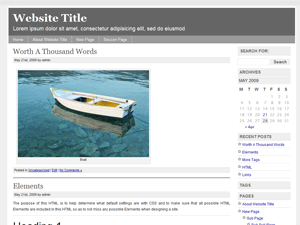 Simple Chrome wordpress theme