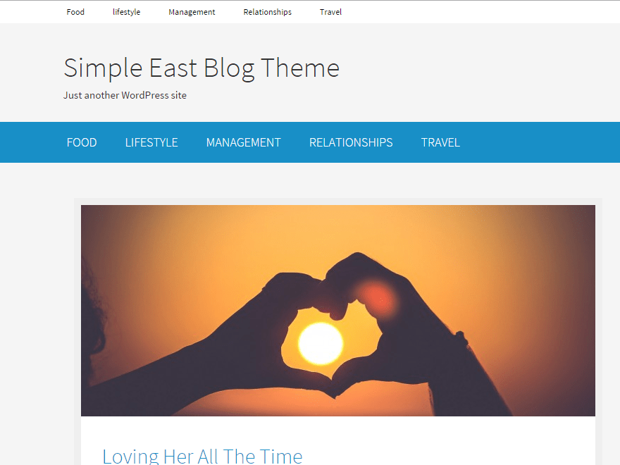 Simple East free wordpress theme