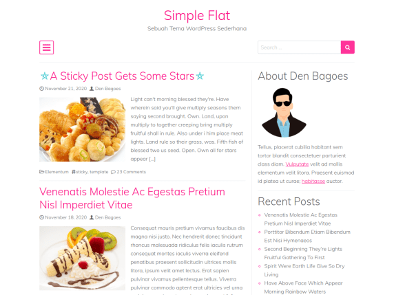 Simple Flat Wordpress Theme Wordpress Org