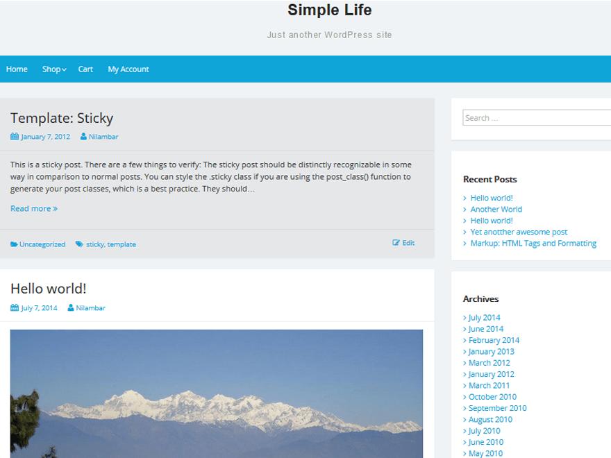Simple Life theme wordpress gratuit