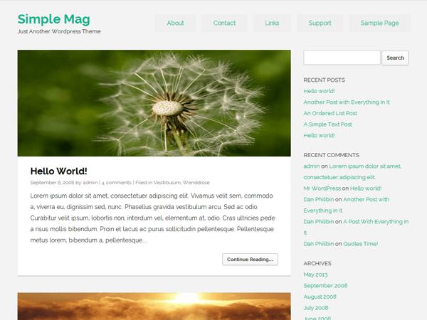 Simple Mag free wordpress theme