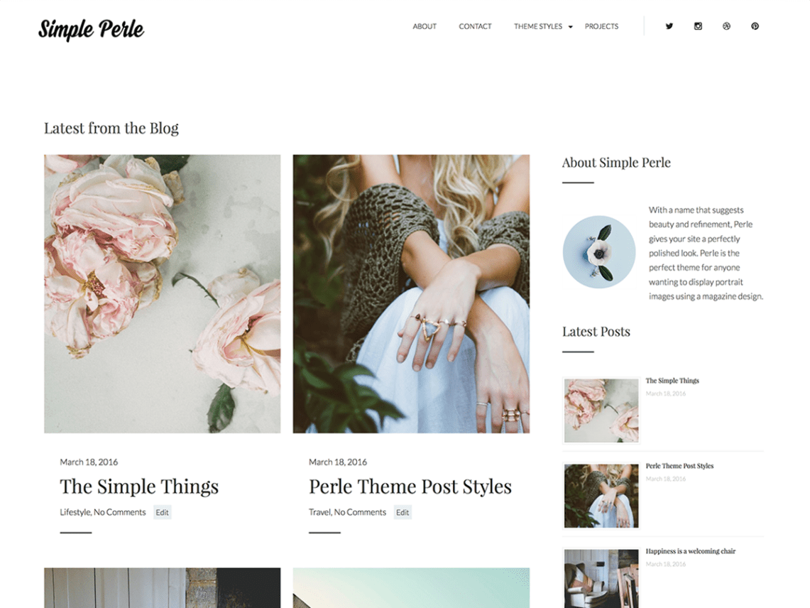 Simple press a custom thesis theme