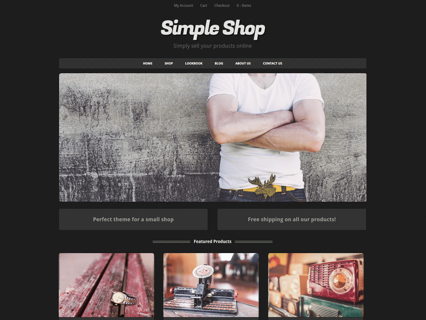 Simple Shop free wordpress theme