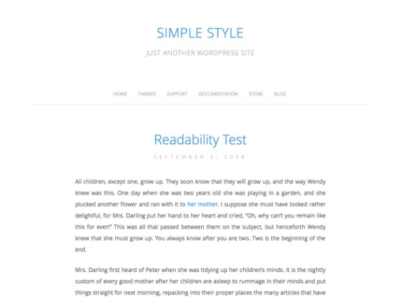Simple Style wordpress theme