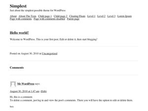 simplest wordpress org