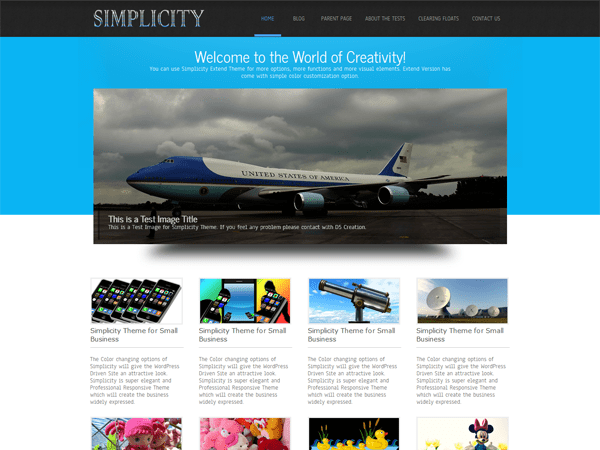 Simplicity Lite free wordpress theme
