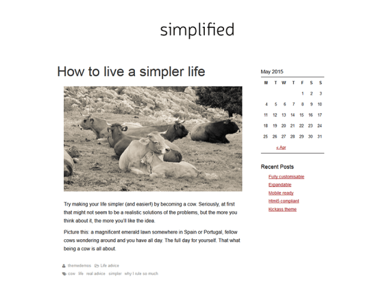SimplifiedBlog wordpress theme