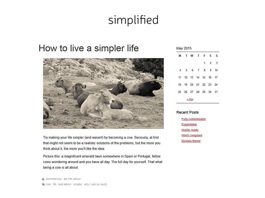 SimplifiedBlog - WordPress theme | WordPress org