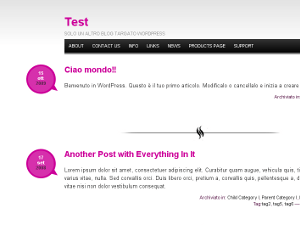 Simply Pink wordpress theme