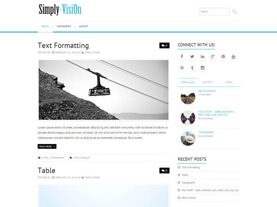 Simply-VisiOn free wordpress theme