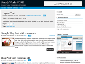Simply Works Core free wordpress theme