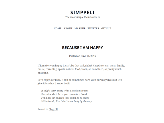 Simppeli wordpress theme