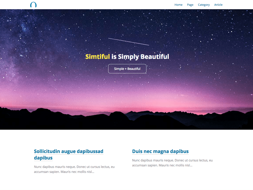 Simtiful free wordpress theme