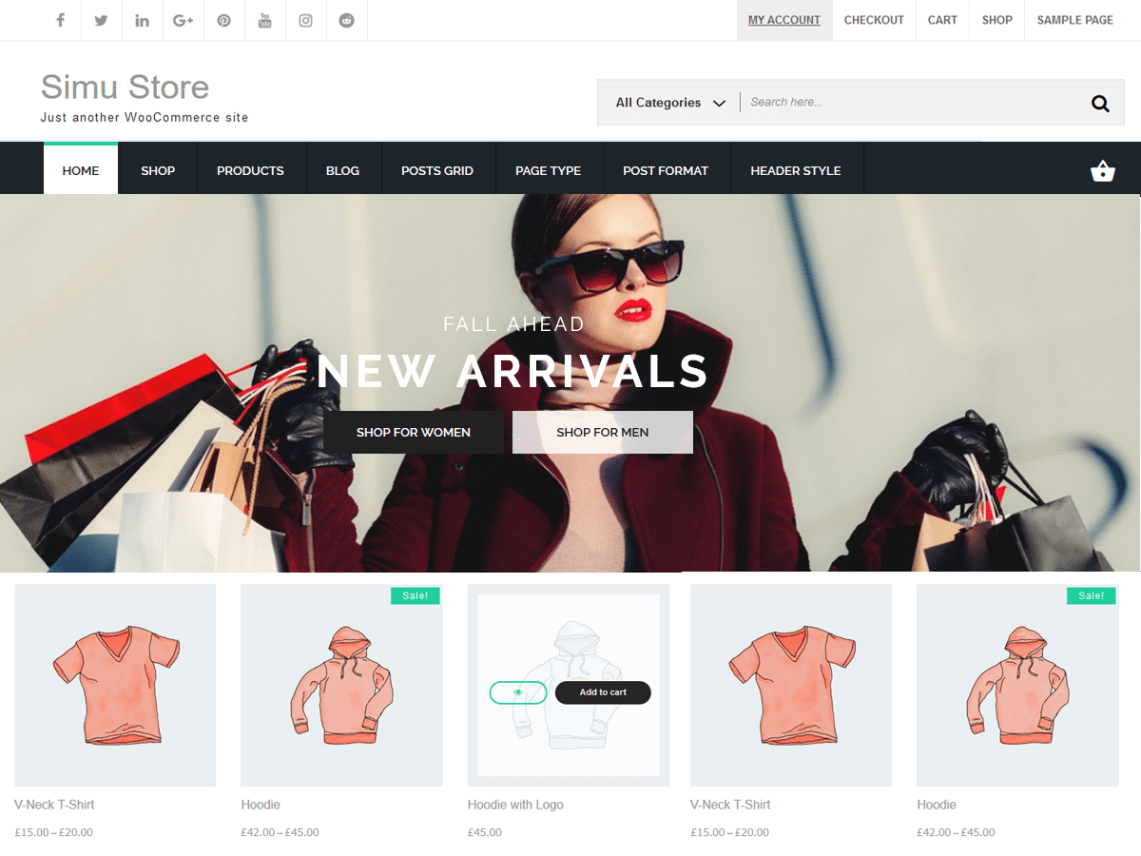 Simu Store Theme Free Download