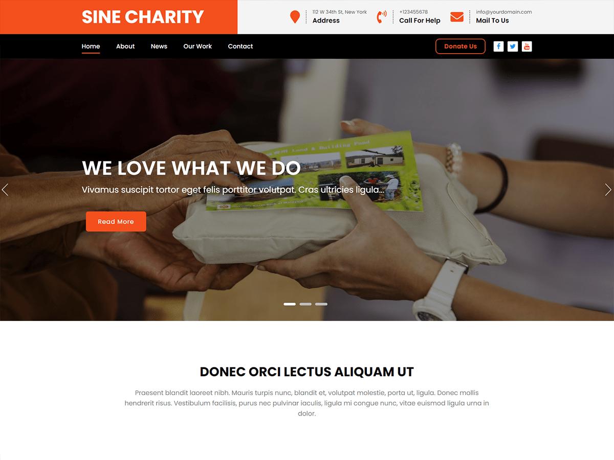 WordPress主题:Sine Charity