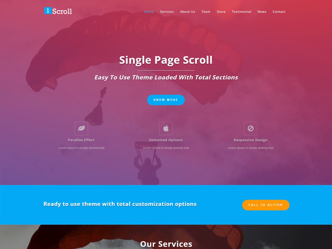 Single Page Scroll Theme Free Download