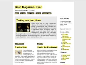 Sirup free wordpress theme