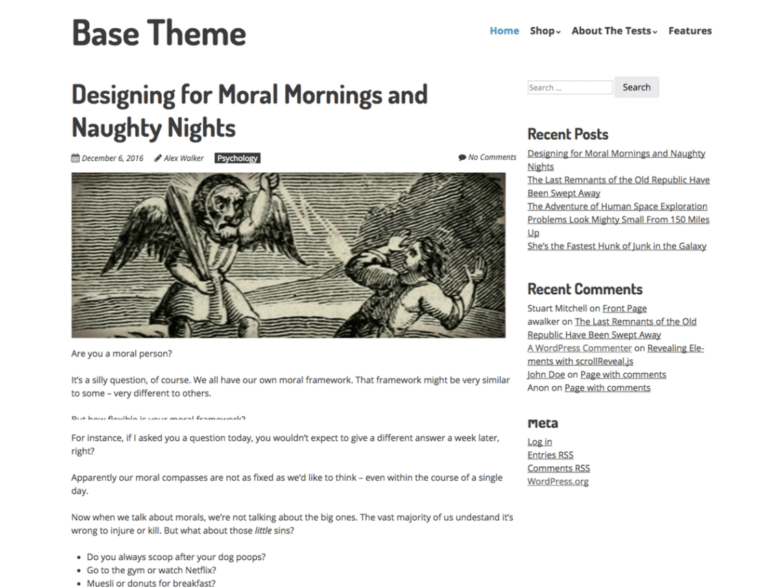 Base WordPress starter theme