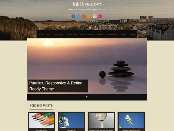 Sixteen free wordpress theme