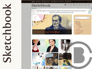 Sketchbook free wordpress theme