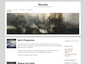 Skirmish free wordpress theme