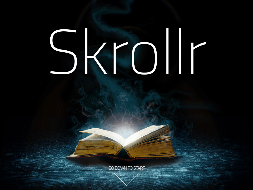 Skrollr free wordpress theme