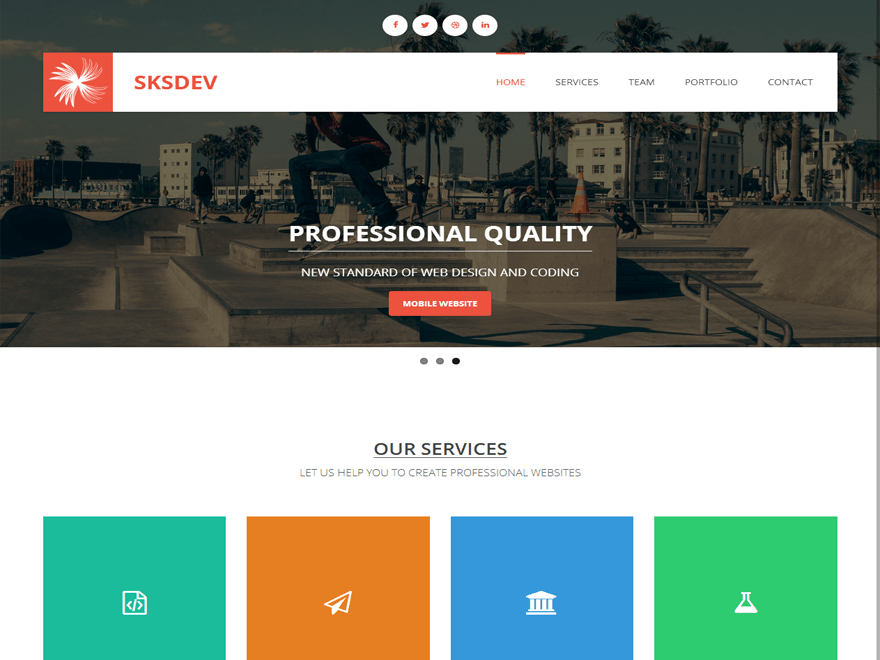 SKSDEV free wordpress theme