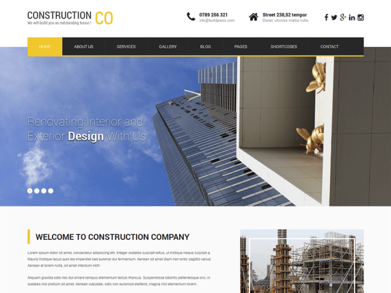 SKT Construction Lite wordpress theme
