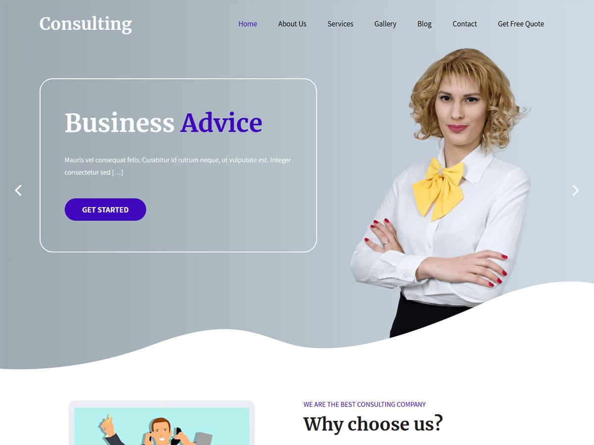 WordPress主题:SKT Consulting