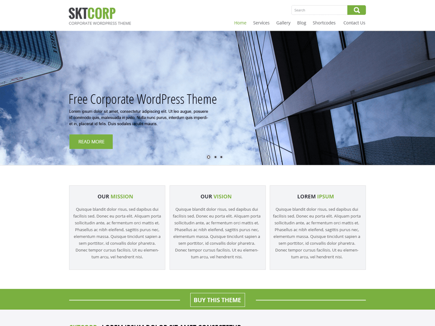 SKT Corp theme wordpress gratuit