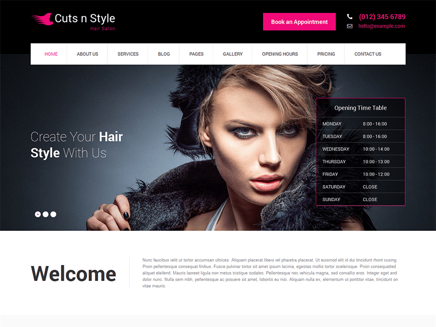 Skt Cutsnstyle Lite wordpress theme