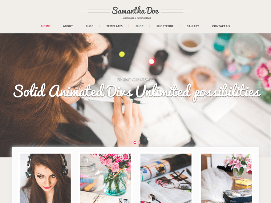 screenshot of SKT Girlie Lite free WooCommerce theme
